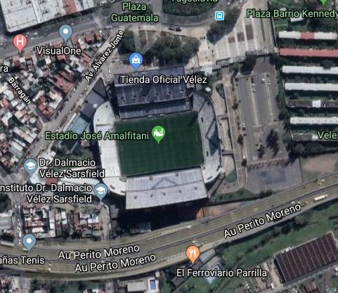 Velez Sarsfield google map
