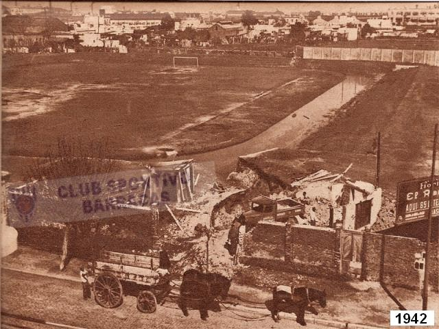 cancha Sportivo Barracas demolicion 1942