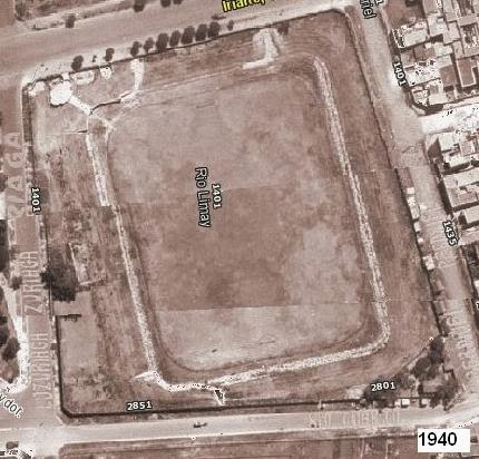 La cancha de Sportivo Barracas vista aerea