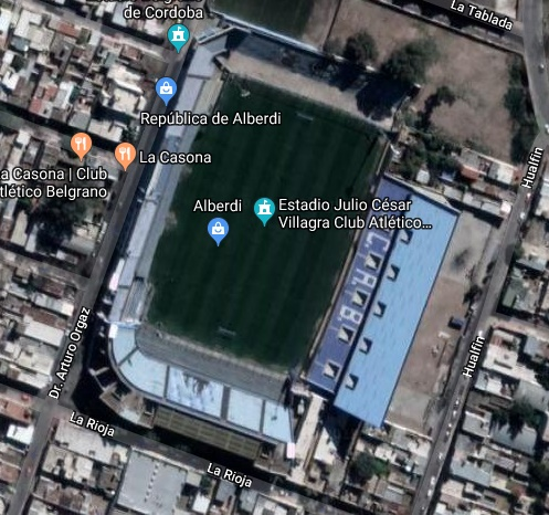 estadio belgrano cordoba maps