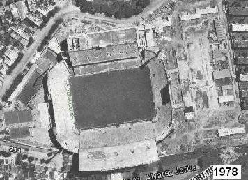 Historia del Estadio Jose Amalfitani vista aerea 1978