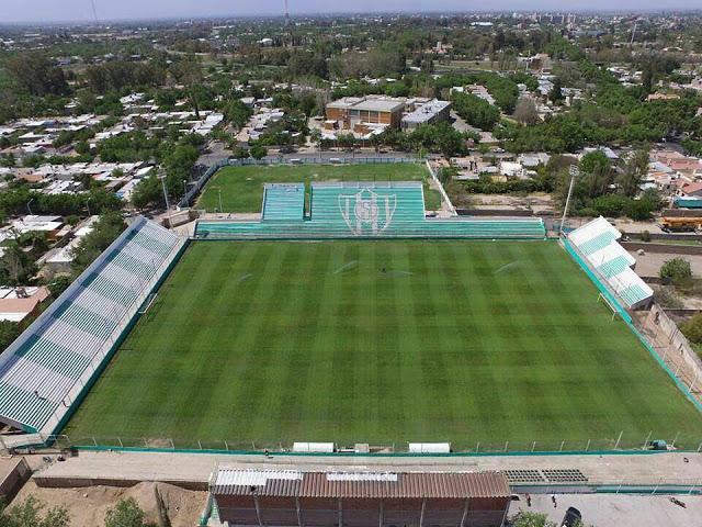 cancha de Sportivo Desamparados vista aerea panoramica
