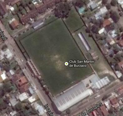 cancha de San Martín de Burzaco google map