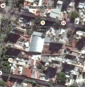 Estadio Cubierto de Sportivo America de Rosario google map