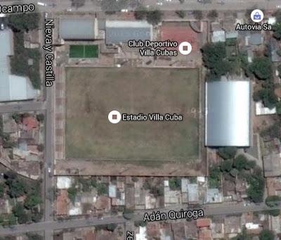 cancha de Sportivo Villa Cubas google map