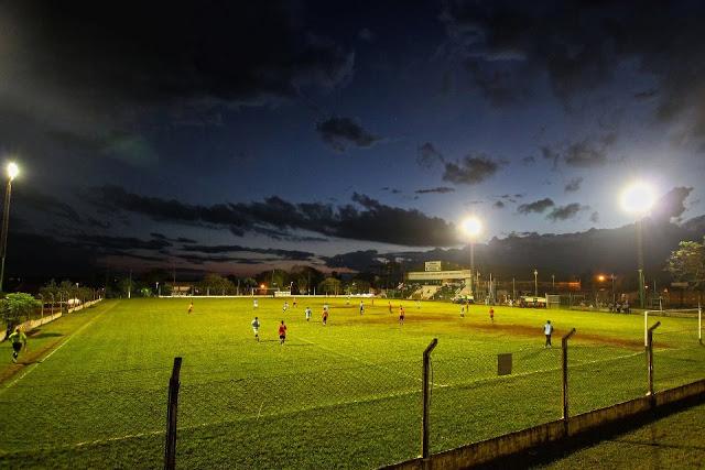 Estadio de la Liga de Fútbol de Puerto Iguazú panoramica