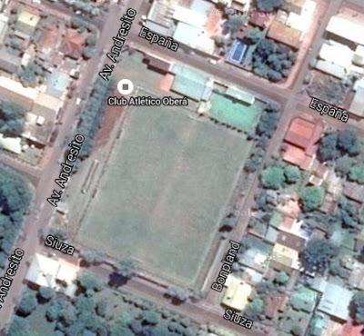 cancha de Atlético Oberá google map