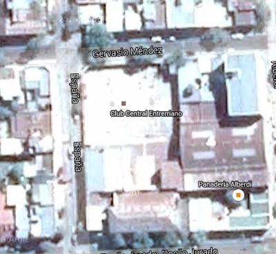 Estadio cubierto de Central Entrerriano google map