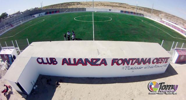 cancha de Alianza Fontana Oeste panoramica
