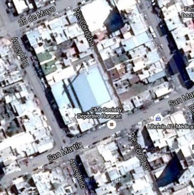 Estadio Cubierto Huracán Trelew google map