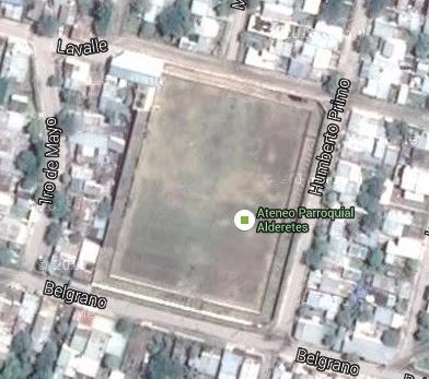 cancha de Ateneo Parroquial de Alderetes google map