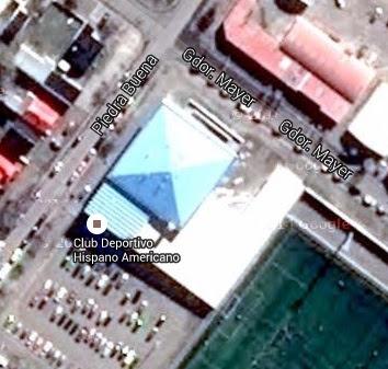 Estadio cubierto de Hispano Americano google map