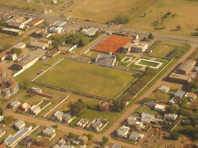 cancha de Independiente de Bolívar vista aerea