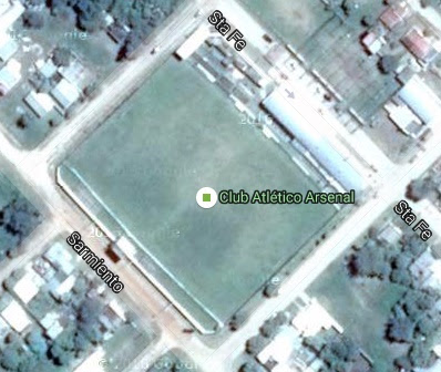 cancha de Arsenal de Viale google map