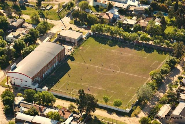 cancha de Sarmiento de Crespo vista aerea
