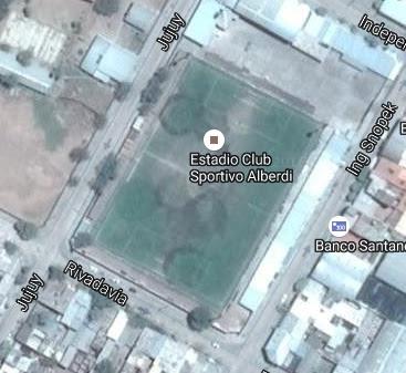 cancha de Sportivo Alberdi google map