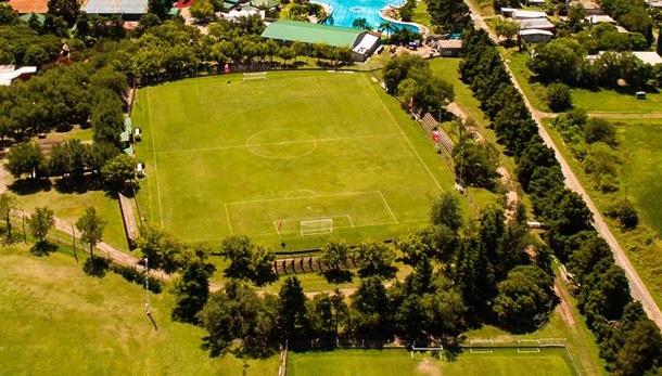cancha de Atlético Carcaraña vista aerea
