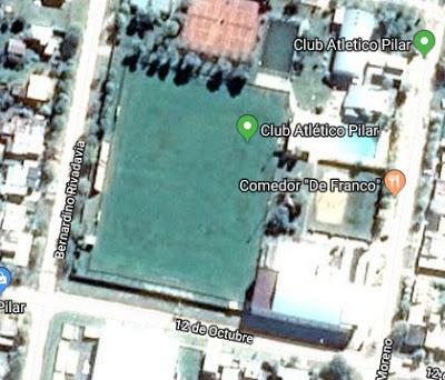 cancha de Atlético Pilar de Santa Fe google map