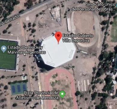 Estadio Cubierto Provincial de Mendoza google map