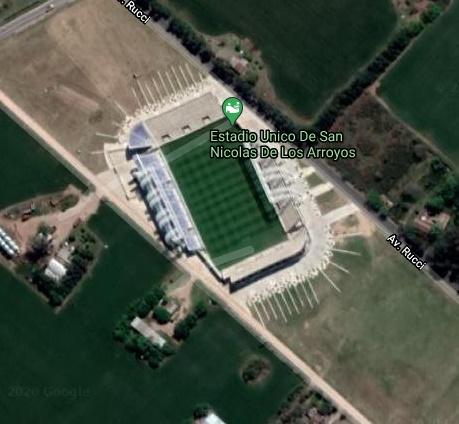 Estadio San Nicolas google map
