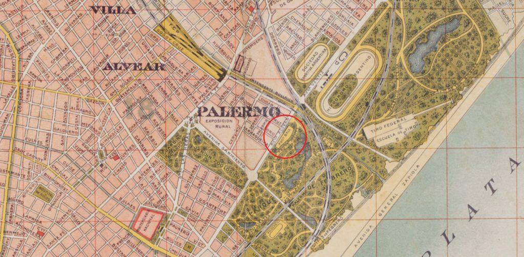 mapa Palermo 1910