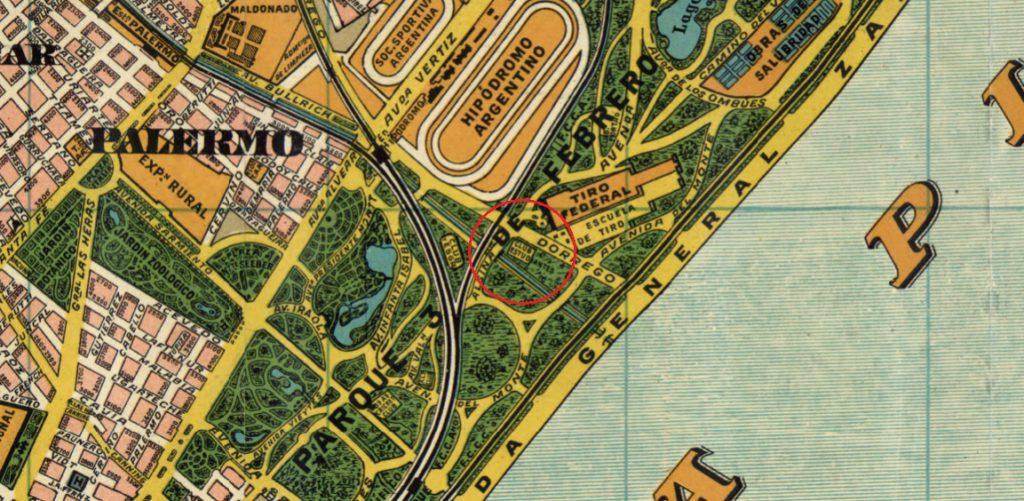 Mapa 1920 Palermo