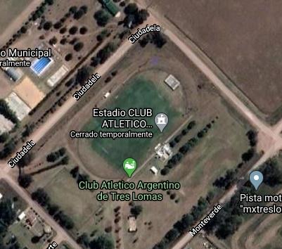 Argentino Tres Lomas google map