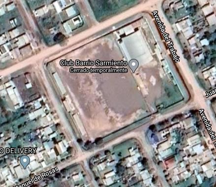 Barrio Sarmiento Castelli google map