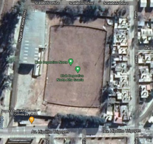 Deportivo Norte Alta Gracia google map
