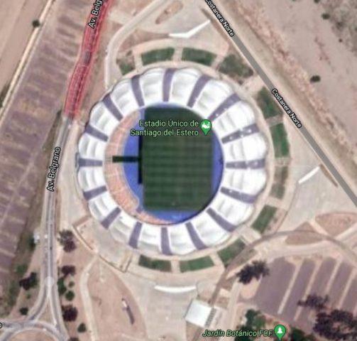 estadio unico Santiago google map