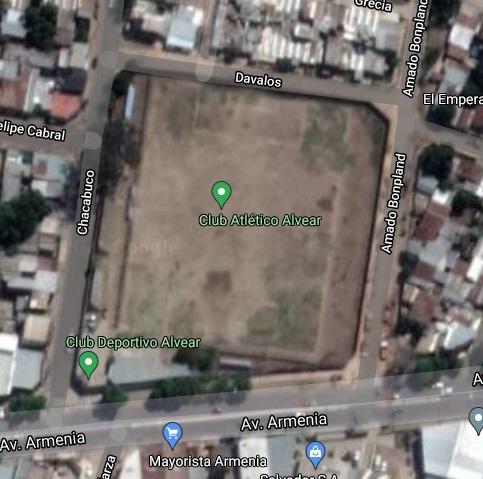 Atlético Alvear Corrientes google map
