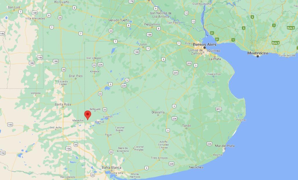 ubicación mapa Arano